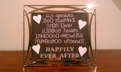 Gift I made for my Mom & Dad's 25th wedding anniversary