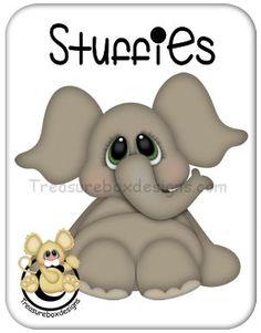 Stuffies Elephant - Treasure Box Designs Patterns & Cutting Files (SVG,WPC,GSD,DXF,AI,JPEG)