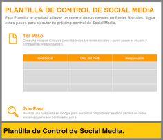 Plantilla para Controlar tus Redes Sociales