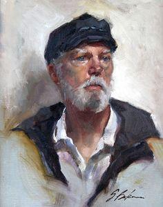 Portrait Painting, Sailor, 11 x 14, oil painting mounted linen canvas