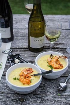 Corn Chowder with Paprika-Grilled Shrimp (recipe) / by Katie at the Kitchen Door