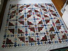log cabin/flying geese i love log Cabin quilts!!!