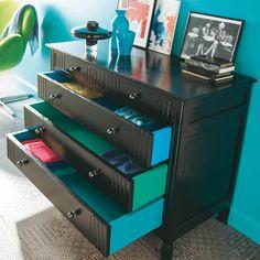 Peinture meuble bois on pinterest peinture pour meuble - Idee relooking meuble bois ...