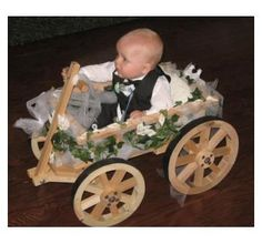 Handmade Wedding Wagons And Flower Girl Carriages For Children by Handcrafted Western Wagons | CustomMade.com