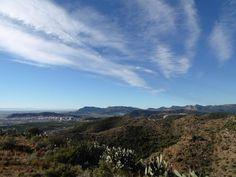 vistas desde el pic dels corbs, faura ,valencia