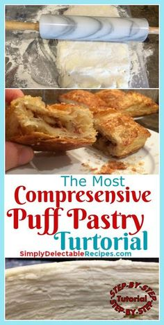 Want to learn how to make this homemade puff pastry? I am sharing all the tips and tricks I've learned to make the puffiest puff pastry ever! Great step by step instructions so you are sure to succeed! Stop buying store bought pastry(which is full of air) and learn how to make this much more delicious puff pastry! via @jacquelineSDR