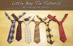 TUTORIAL Little Boy Tie.  Might be simpler than my Make It and Love It pattern but it's a little thicker at the top.  Will try it out.