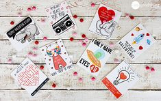 One Good Thing By Jillee :: 8 PUN-tastic & Printable Valentine's Day Cards