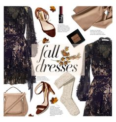 """Feeling fall"" by nineseventyseven ❤ liked on Polyvore featuring Zimmermann, C. Jeré, Rebecca Minkoff, H&M, NARS Cosmetics, Bobbi Brown Cosmetics and falldresses"