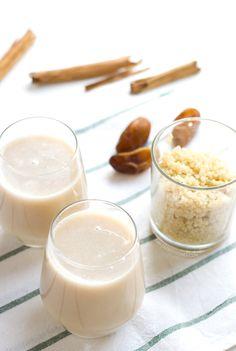 Leche de quinoa. La leche de quinoa es muy fácil de preparar en casa, está muy rica, es sana y además no tiene gluten, por lo que también es apta para celíacos | danzadefogones.com #danzadefogones #vegano #singluten