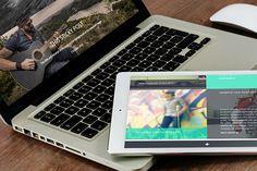 Fullscreen Portfolio Theme Planum by DinevThemes on Creative Market