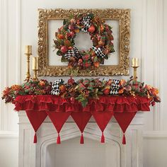 Enchanted Christmas Mantel Scarf.  Frame your wreath for a fabulous focal point.