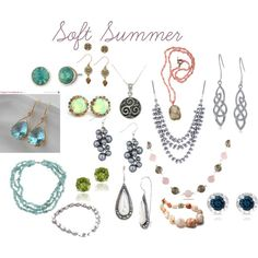 soft summer jewelry by expressingyourtruth on Polyvore featuring Lonna & Lilly, Pearlz Ocean, J by Jasper Conran, Lord & Taylor, Dolce Giavonna, Glitzy Rocks, Miadora, Carolina Glamour Collection, The Sak and Fat Face