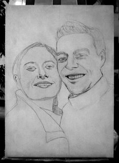 """Making of """"J+Lo"""" Zeichnung unterhalb"""