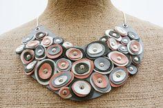 Sarah Mandell, Leather Bib Necklace