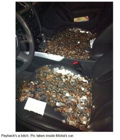Jared's payback (Misha's car)