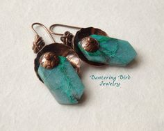Chrysocolla with Copper Metalwork by BanteringBird