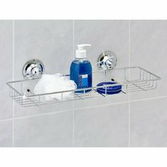 Everloc Suction Cup Multipurpose Caddy - EL-10206 by Everloc. $22.99. EL-10206 Features: -Patented suction cup adheres to glass, fiberglass, tile (avoid the grout lines), Plexiglas, Formica, quartz and processed stone, enamel painted surfaces, sealed wood, laminated surfaces and all other non-porous surfaces.-Holds on textured surfaces.-No tools required for installation.-Can be removed and re-applied multiple times. Color/Finish: -Polished Chrome finish.