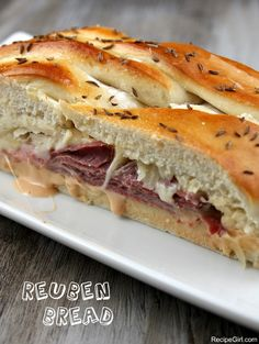Reuben Bread:  a DELICIOUS sandwich recipe made with corned beef.