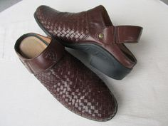 Ariat women shoes clogs woven Leather Brown 8.5 B #Ariat #Clogs #Casual