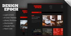 Design Epoch is a simple, functional and trendy theme