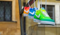 "NIKE NSW AIR FORCE 1 AC BR QS ""GRADIENT PACK"" available at www.runcolors.pl"