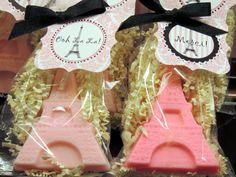 10 Eiffel Tower Soap Party Favors Bridal Shower Baby Shower Birthday Paris Parties Includes Tags on Etsy, $20.00