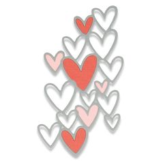 Sizzix Thinlits Die - Scattered Hearts We just LOVE this Scattered Hearts die which has so many possibilities! You can use the cutout hearts to share the love or the outline would make a perfect scrapbook filler. Sizzix Dies, Scrapbook Background, Die Cutting, Stencils, How To Draw Hands, Heart, Cards, Scrapbooking, Flowers