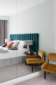 Bedroom inspiration with emerald gold luxe velvet colors