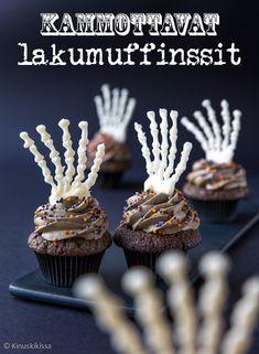 Kouramuffinssit   Reseptit   Kinuskikissa Halloween Party, Halloween Ideas, Cupcakes, Sweets, Baking, Birthday, Desserts, Kids, Food