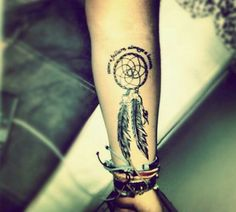 Dream catcher tattoo- Hanna and her cousin Kasey want tattoos when they get older one to memorialize Hanna's uncle, Kasey's dad John but I also think this would be very cool with color to show their Indian heritage.