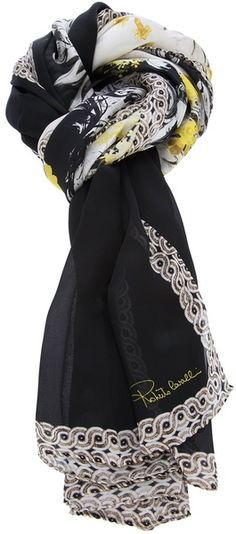 Baroque Print Scarf - Lyst   #shopping #gifts #christmas  https://itunes.apple.com/us/app/blisslist-easy-shopping-gifting/id667837070
