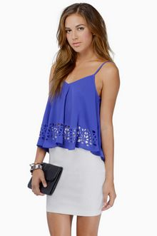 Stony - Keep Me Close Top, cobalt. Sold out in 1 week - 198 ordered.