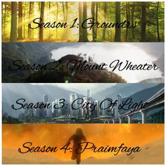 The 4 seasons of the 100✨ #the100