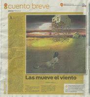 Publicado en el periódico La Voz del Interior (Argentina) 11/12/11 Sección Vos  Patricia Nasello microrrelatos: Publicaciones en Argentina