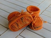 Babyschuhe Knitted Booties, Baby Shoes, Booty, Etsy, Kids, Fashion, Beads, Young Children, Moda
