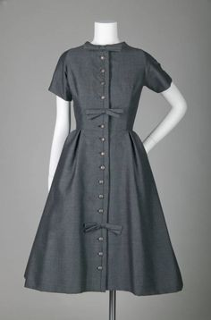 Wool tweed dress, by Yves St. Laurent for Christian Dior, 1958. (source: Chicago History Museum)