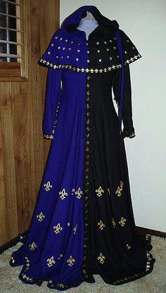 Cotehardie - Period? Strange golden pieces. Inspiration for ceremonial paladin robes.