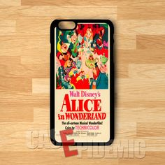 Alice in Wonderland Vintage Poster - zDD for iPhone 4/4S/5/5S/5C/6/6+,Samsung S3/S4/S5/S6 Regular,Samsung Note 3/4