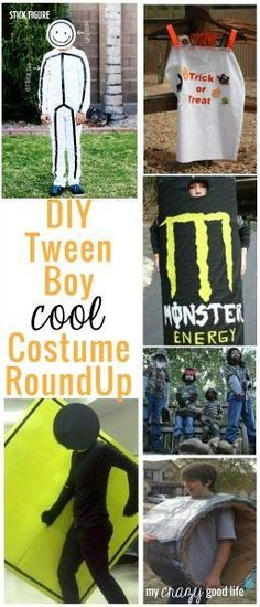 Have a tween boy that wants to dress up for halloween but needs a cool costume? These DIY tween boy costumes are perfect!