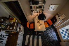 Stuttgarter Küche aus der Vogelperspektive.  Wohnen in Stuttgart.  #Stuttgart #Wohnung #Küche #kitchen