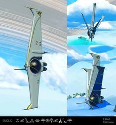 White and Gold Tri-Wing Exotic with Dual Engines - System. Space Ship Concept Art, Concept Ships, Star Wars Spaceships, Sci Fi Spaceships, Lego Spaceship, Spaceship Design, Stargate, Art Transportation, Starship Concept