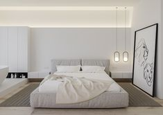 "Project ""Apartment in ""Slavutich"""", design of apartment, minimalism style, photo Minimal Bedroom, Modern Bedroom, Bedroom Decor, Plan Duplex, Home Design, Interior Design, Design Ideas, Modern Contemporary Living Room, Terrace Design"