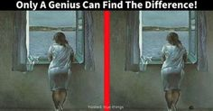 It Takes A Genius To Spot The Difference. Can You? The difference is the black dot/object on the right side bottom corner.