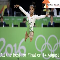 ‪#‎HistoryMaker‬ What a proud moment for all of us! ‪#‎DipaKarmakar‬ is the first Indian ‪#‎woman‬ ‪#‎gymnast‬ to make it to the Olympics.She has proved to the world that you can ‪#‎design‬ your own destiny with pure determination - Sandhya Shevade Creations wishing her All the best for the finals! ‪#‎Rio2016‬