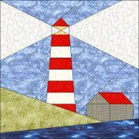 light house paper piecing