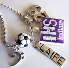 ONE Custom Designed SCRABBLE Tile PENDANT and Chain by BusyBree, $14.00 -- beads, charms, hand stamped name tags extra.