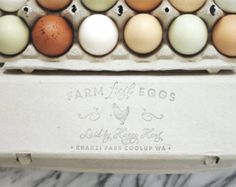 Farm Fresh Chicken Rubber Stamp Wood Stamp by SubstationPaperie