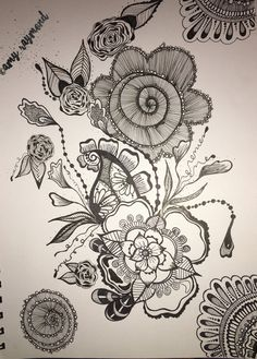#zentangle 12/18/16 by Amy Raymond #sketch #copic #sharpie #inkart #tattoo #doodle