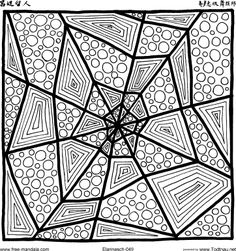 Spider Web Zentangle Idea